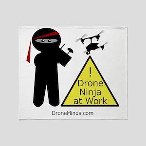 Drone Ninja at Work! Throw Blanket
