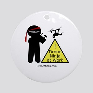 Drone Ninja at Work! Round Ornament