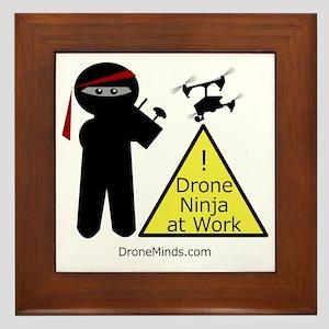 Drone Ninja at Work! Framed Tile