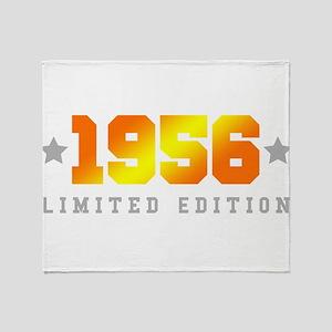 Limited Edition 1956 Birthday Throw Blanket