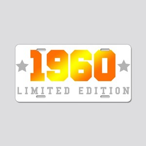Limited Edition 1960 Birthday Aluminum License Pla