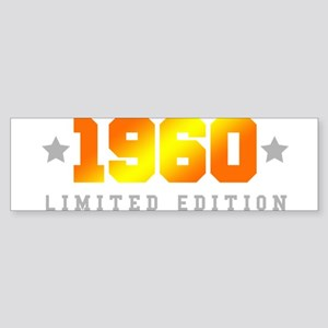 Limited Edition 1960 Birthday Bumper Sticker
