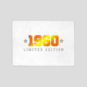 Limited Edition 1960 Birthday 5'x7'Area Rug