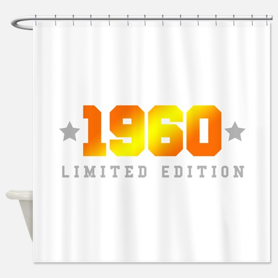 Limited Edition 1960 Birthday Shower Curtain