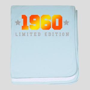 Limited Edition 1960 Birthday baby blanket
