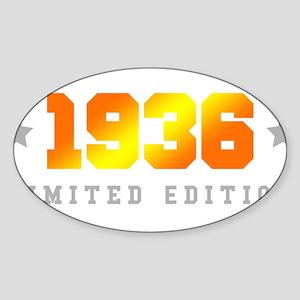 Limited Edition 1936 Birthday Sticker