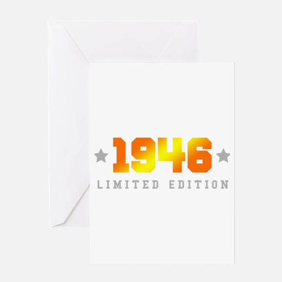 Limited Edition 1946 Birthday Greeting Cards