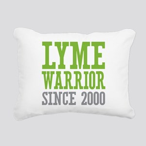 Lyme Warrior Since 2000 Rectangular Canvas Pillow