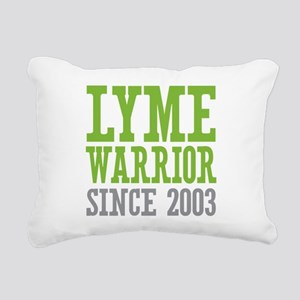 Lyme Warrior Since 2003 Rectangular Canvas Pillow
