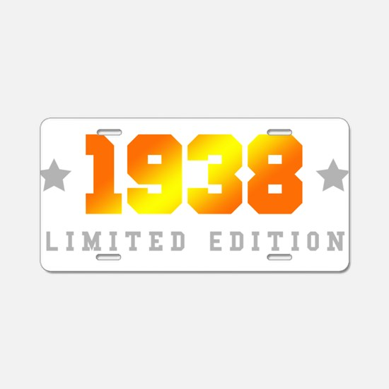 Limited Edition 1938 Birthday Aluminum License Pla