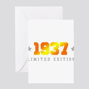 Limited Edition 1937 Birthday Greeting Cards