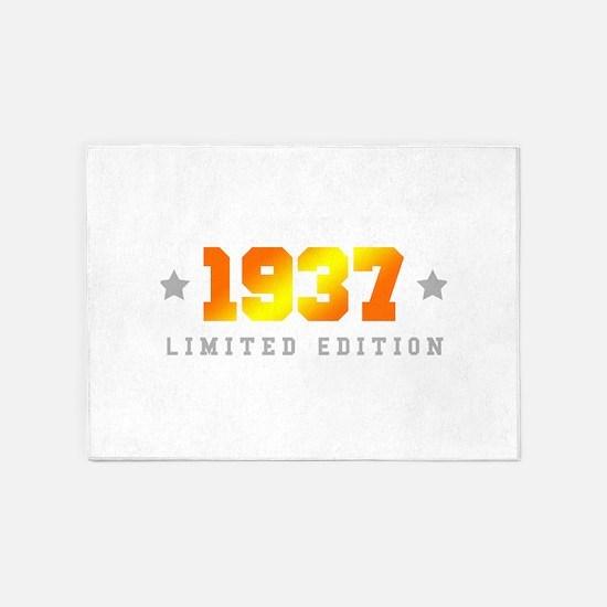 Limited Edition 1937 Birthday 5'x7'Area Rug