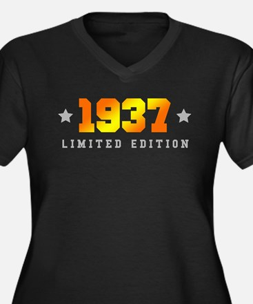 Limited Edition 1937 Birthday Plus Size T-Shirt