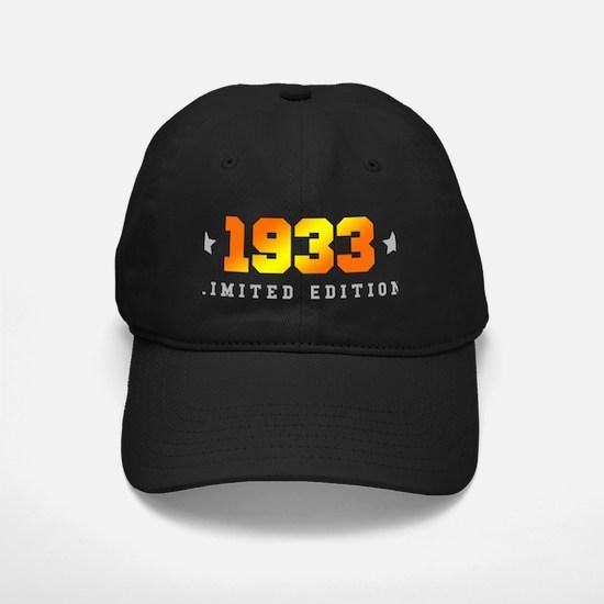 Limited Edition 1933 Birthday Baseball Cap