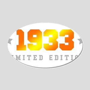 Limited Edition 1933 Birthday Wall Sticker