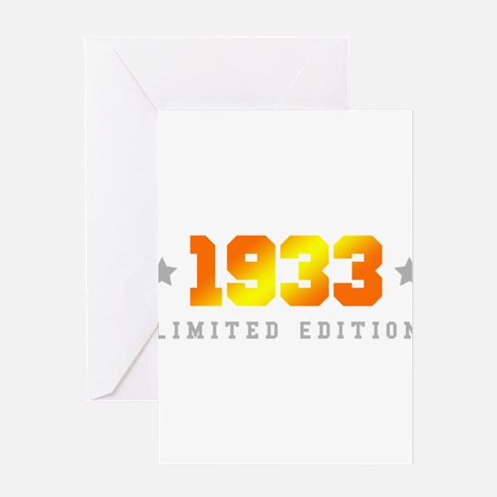 Limited Edition 1933 Birthday Greeting Cards
