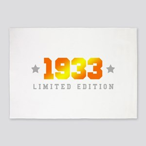 Limited Edition 1933 Birthday 5'x7'Area Rug