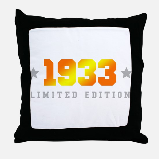 Limited Edition 1933 Birthday Throw Pillow