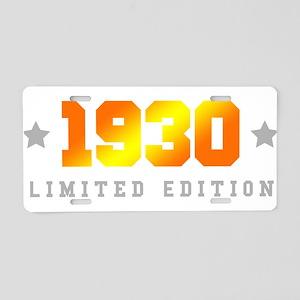 Limited Edition 1930 Birthday Aluminum License Pla