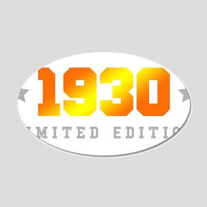 Limited Edition 1930 Birthday Wall Sticker