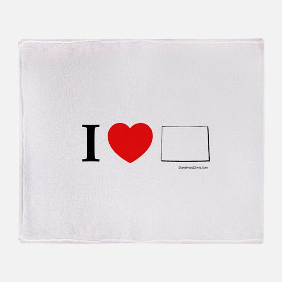 Cute I love co Throw Blanket