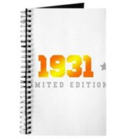 Limited Edition 1931 Birthday Journal