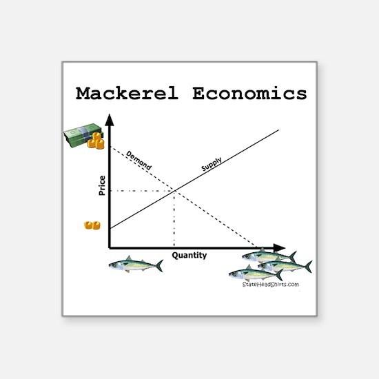 "Mackerel_Economics.png Square Sticker 3"" x 3"""