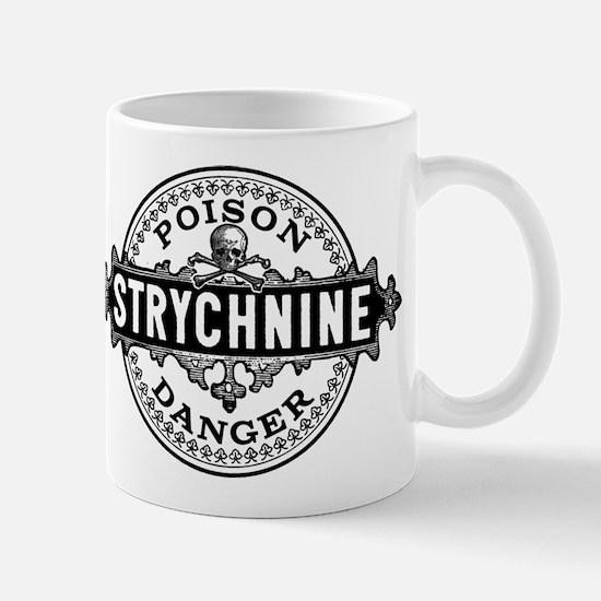 Halloween Poison Label Strychnine Mugs