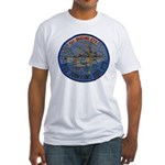 USS HAWKINS Fitted T-Shirt