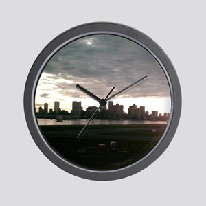 Boston Skyline from Airport Wall Clock