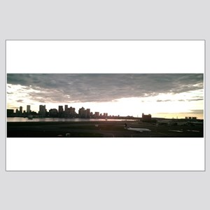 Boston Skyline from Airport Large Poster