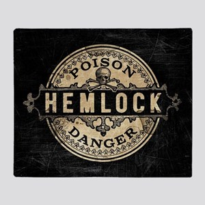 Vintage Style Hemlock Poison Throw Blanket