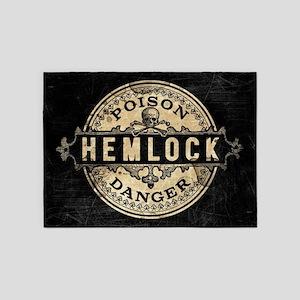 Vintage Style Hemlock Poison 5'x7'Area Rug