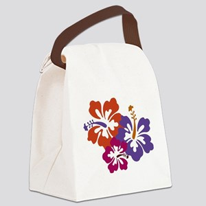 Hibiscus Bunch Canvas Lunch Bag