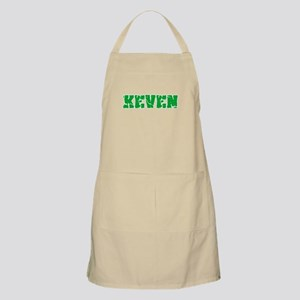 Keven Name Weathered Green Design Light Apron