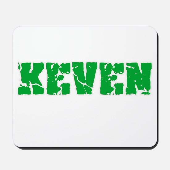 Keven Name Weathered Green Design Mousepad
