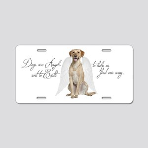 Yellow Lab Angel Aluminum License Plate