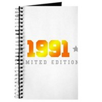 Limited Edition 1991 Birthday Shirt Journal