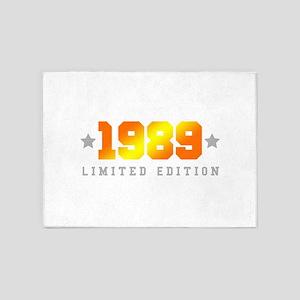 Limited Edition 1989 Birthday Shirt 5'x7'Area Rug