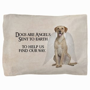 Yellow Lab Angel Pillow Sham