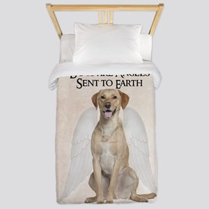Yellow Lab Angel Twin Duvet