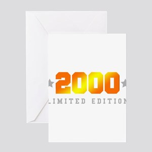 Funny 15th birthday greeting cards cafepress limited edition 2000 birthday shirt greeting cards m4hsunfo