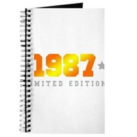 Limited Edition 1987 Birthday Shirt Journal