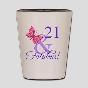Fabulous 21st Birthday Shot Glass
