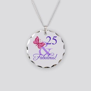 Fabulous 25th Birthday Necklace Circle Charm