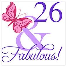 Fabulous 26th Birthday Poster