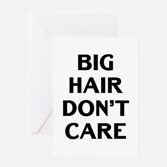 Big Hair Greeting Card