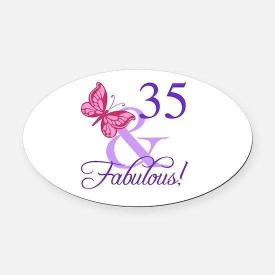 Fabulous 35th Birthday Oval Car Magnet
