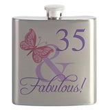 Happy 35th birthday Flask Bottles