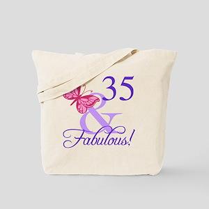 Fabulous 35th Birthday Tote Bag